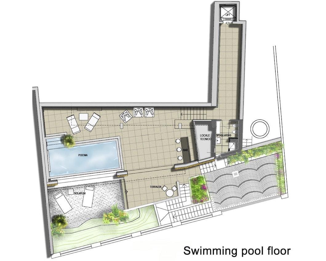 План 2 этажа виллы Meraviglia в Лугано, Швейцария