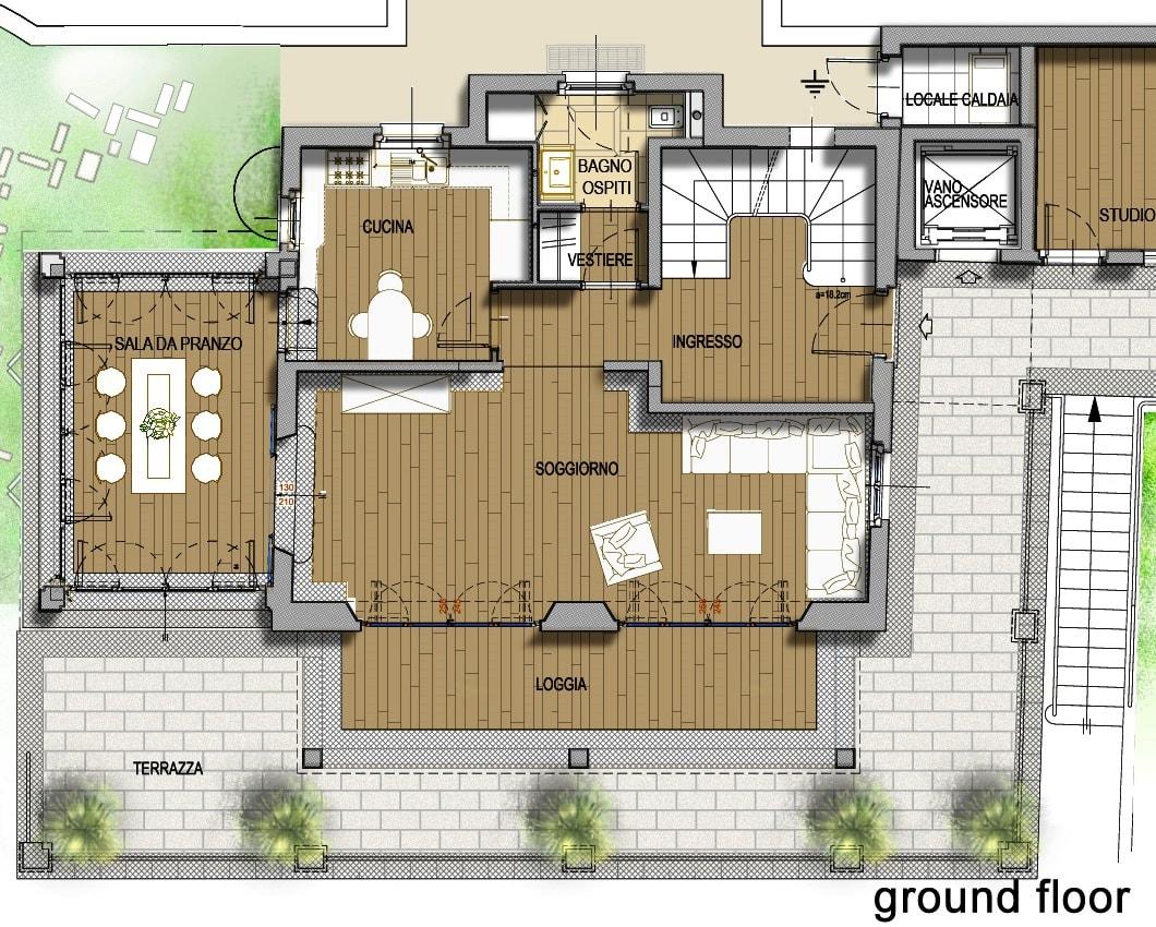 План 4 этажа виллы Meraviglia в Лугано, Швейцария