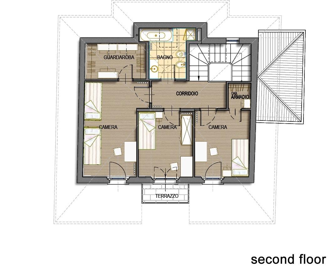 План 6 этажа виллы Meraviglia в Лугано, Швейцария