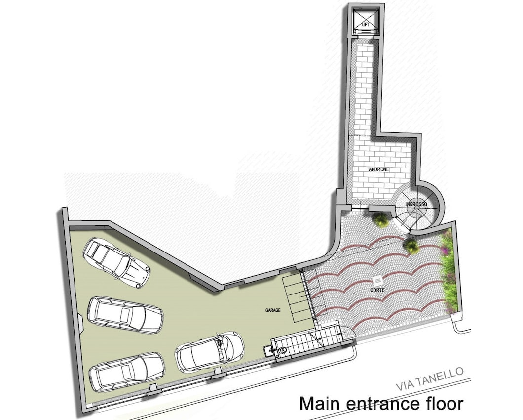 План 1 этажа виллы Meraviglia в Лугано, Швейцария