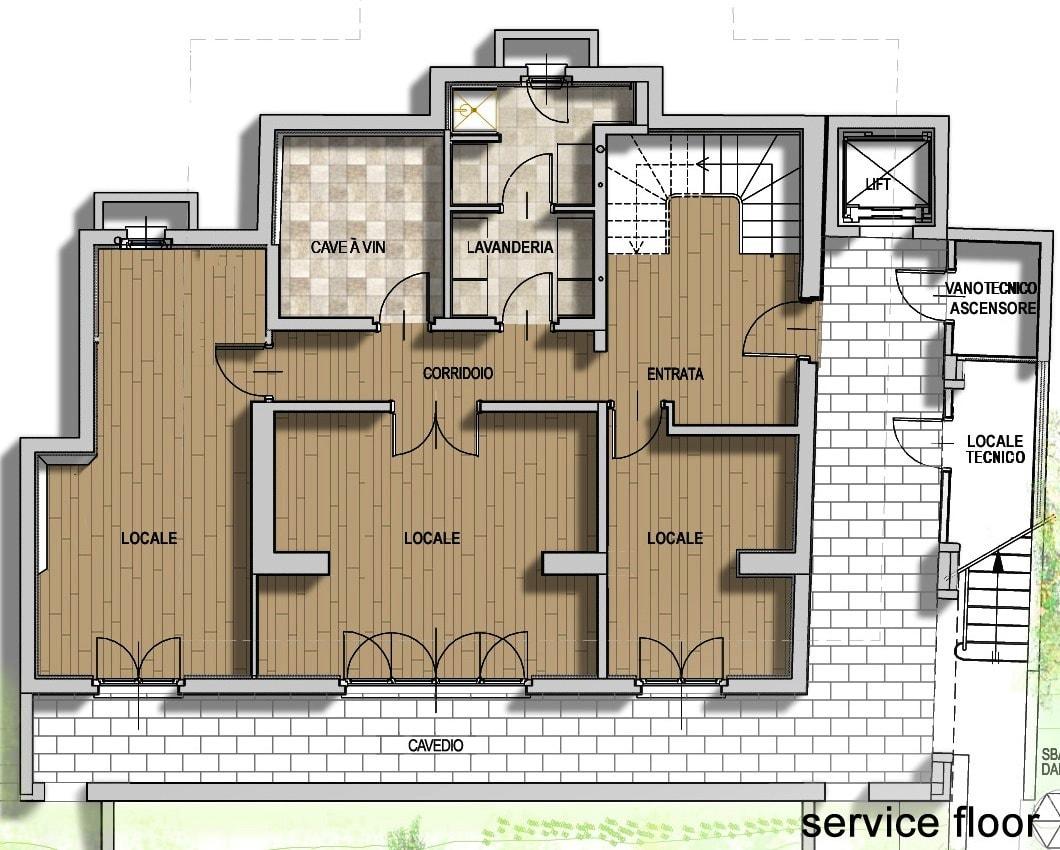 План 3 этажа виллы Meraviglia в Лугано, Швейцария