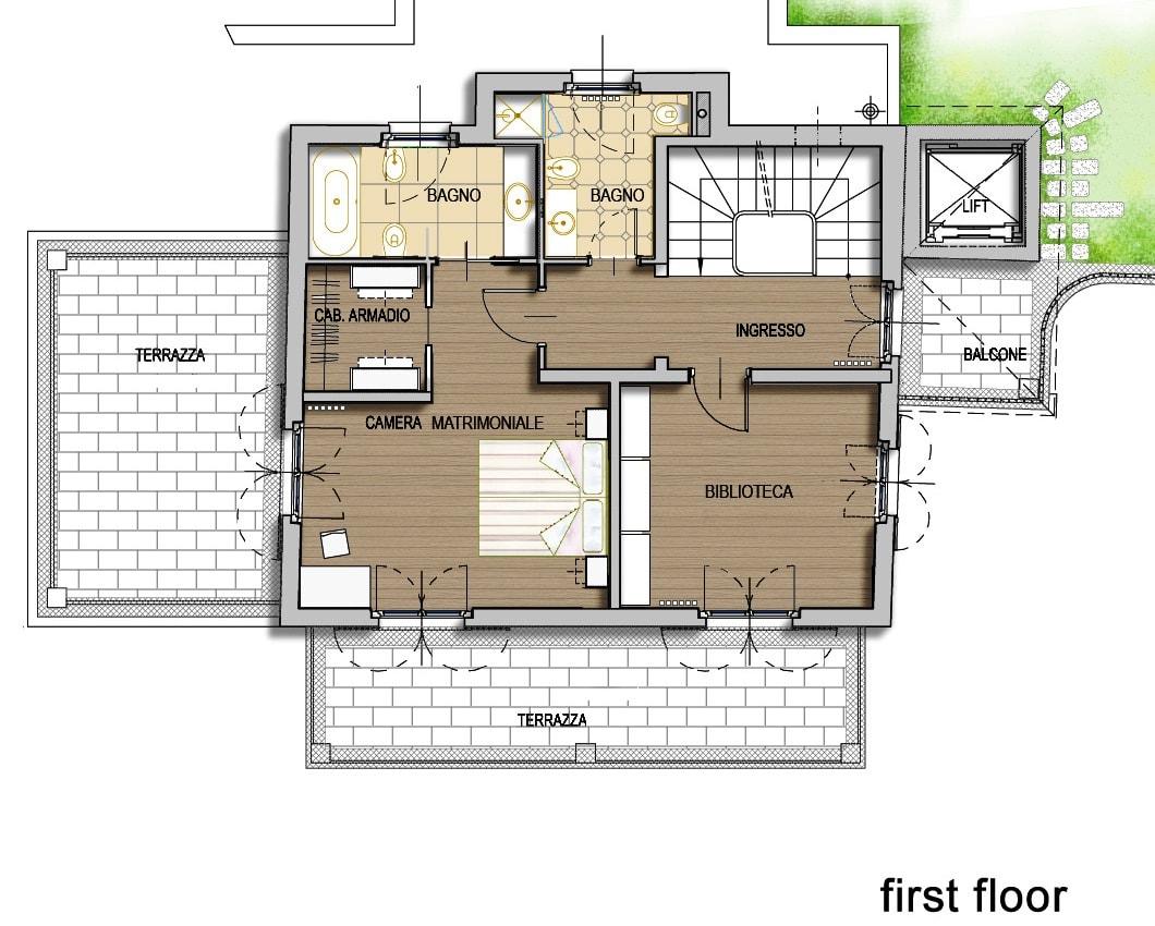 План 5 этажа виллы Meraviglia в Лугано, Швейцария